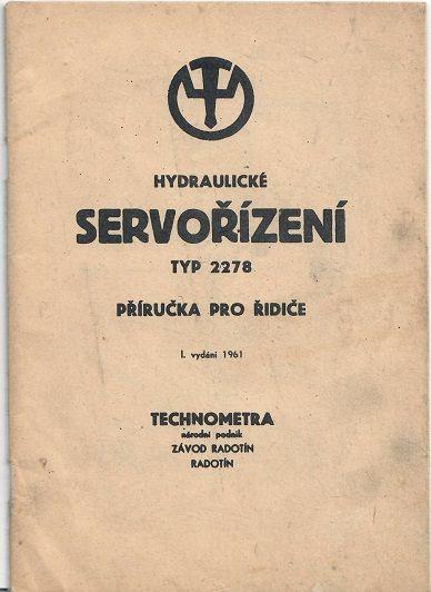 Hydraulické servořízení typ 2278