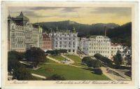 Marienbad Kirchenplatz mit Hotel