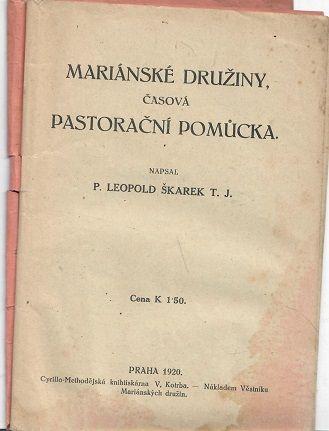Mariánské družiny, časová pastorační pomůcka - Škarek