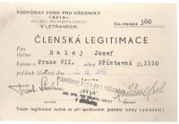 Členská legitimace Avia 1941