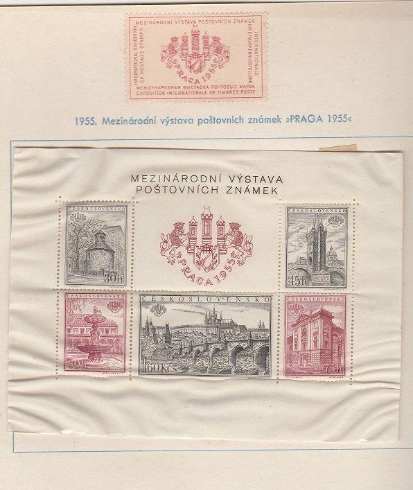 1955 - Mezinárodní výstava poštovních známek Praga 1955