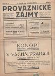 Provaznické zájmy  8/1928
