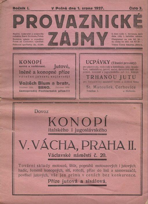 Provaznické zájmy 3/1927