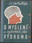 O myslení a spósoboch jeho výskumu - Rubinštejn