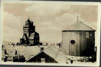 Krkonoše - Sněžka 1603 m n. m. Meteorologická stanice a kaplička sv. Vavřince