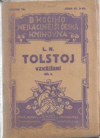 Vzkříšení I. - Tolstoj