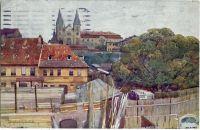 Praha Podskalí s Emauzským klášterem