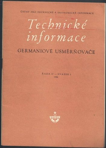 Technické informace - germaniové usměrňovače - Frank