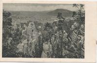 Adršpašské skály - Celkový pohled s vesnicí