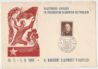 Vlastenecké kaplicko za presidentem Klementem Gottwaldem
