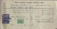 Výpis odpočtu zrušenej vkladnej knížky