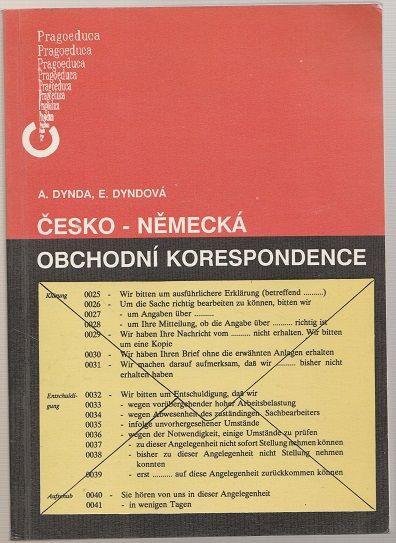 Česko - německá obchodní korespondence - Dynda