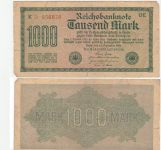 Reichsbanknote 1000 Mark 1922