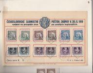 Československé slavnostní vydání poštov. známky k 28./X. 1919