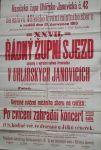 Hasičský plakát Uhlířské Janovice 1913