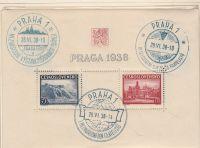 1938 Výstava poštovních známek PRAGA 1938 A342/343
