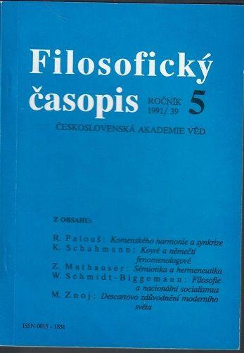 Filosofický časopis 5/1991
