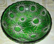 Skleněná mísa zelená