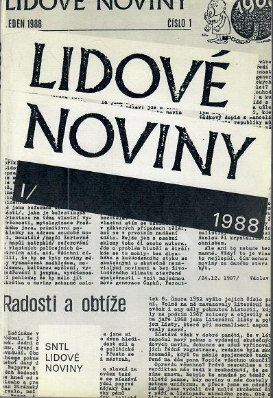 Lidové noviny 1988 I.