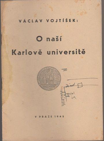 O naší Karlově univerzitě - Vojtíšek