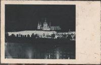 Praha v slavnostním osvětlení Hradčany