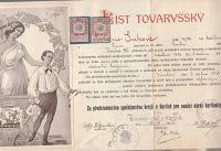 List tovaryšský 1918