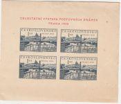 Celostátní výstava poštovních známek Praha 1950 (Současná Praha) - Aršík