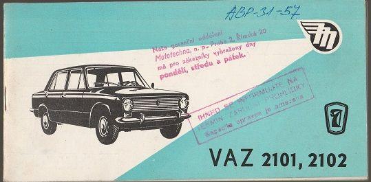 VAZ 2101, 2102 - Servisní knížka